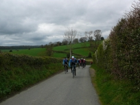 Lads climbing a hill near Much Marcle