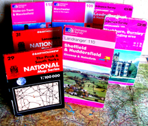 A selection of the maps we use on rides